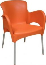 Thermo Plastic Titan Stacking Chair - Orange